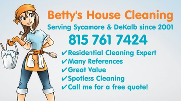 Kingston, IL House Cleaning - Betty's House Cleaning