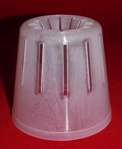 clear plastic orchid pot 3 inch round slots small cone extra drainage air circulation
