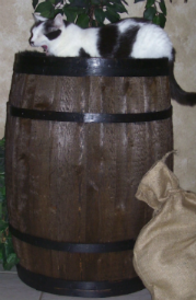 Wine Barrel Cat Beds