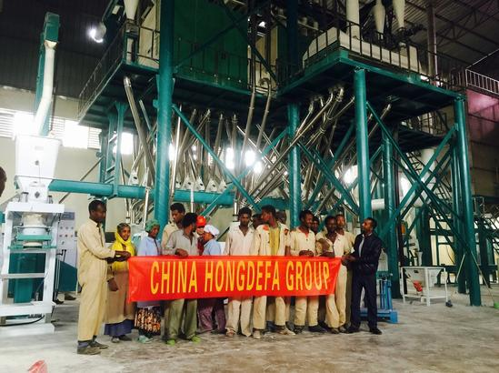 European standard wheat flour mill machine in Ethiopia