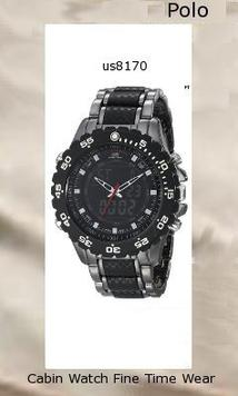 Watch Information Brand, Seller, or Collection Name U.S. Polo Assn. Model number US8170 Part Number US8170 Model Year 2014 Item Shape Round Dial window material type Mineral Clasp Fold-Over Clasp with Double Push-Button Safety Case material Metal Case diameter 46 millimeters Case Thickness 11.3 millimeters Band Material metal-alloy Band length Men's Standard Band width 23 millimeters Band Color Black Dial color Black Bezel material Plastic Bezel function Stationary Calendar Day, date, and month Special features alarm-feature, Dual time display, Timer Item weight 8 Ounces Movement Japanese-Quartz