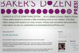 Baker's Dozen Press blog