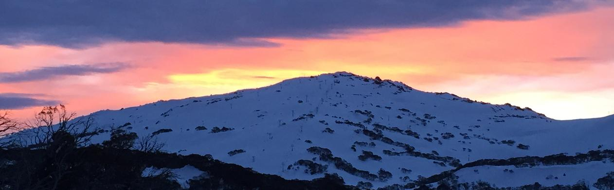 Another stunning sunset over Mount Perisher