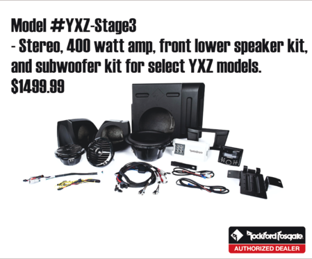 Yamaha side x side Rockford Fosgate audio - Autosport Plus - Canton Akron Ohio