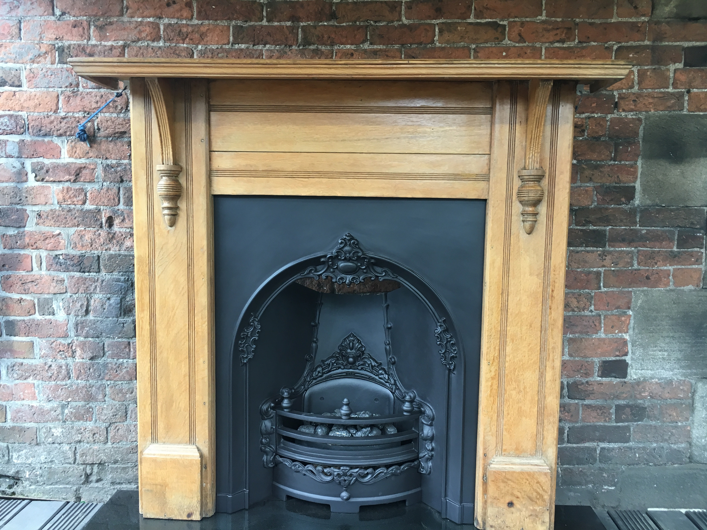 tiled and arched fireplaces