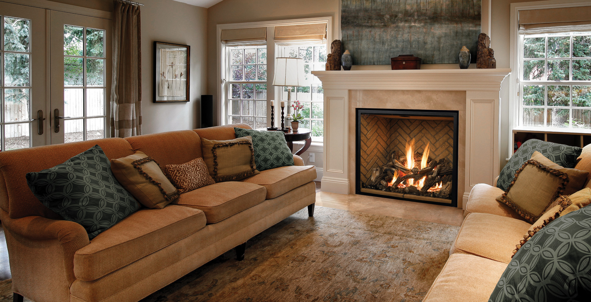 Gas fireplaces custom installed to fit your specs. Gas Logs
