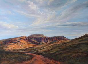 Pathway to Heaven, Wild Rose Pass painting Lindy C Severns Fort Davis TX artist