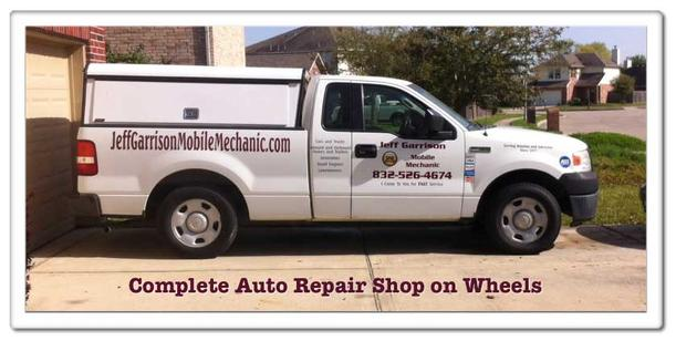 Truck used for our auto repair service in Houston, TX