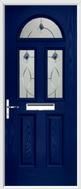 2 panel 2 square 1 arch composite door fusion art glass