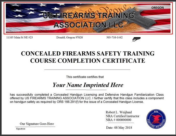 US FIREARMS TRAINING ASSOCIATION LLC