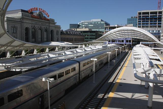 The California Zephyr at Denver Union station in 2016.