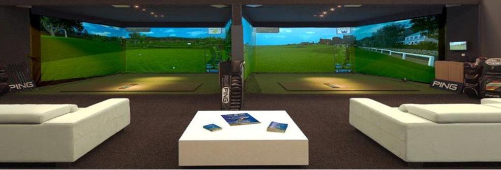 Golf simulator virtual golf simulator indoor golf for Indoor golf design