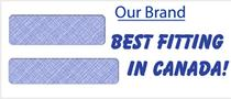 Canada's Best fitting security lined double window cheque envelope!