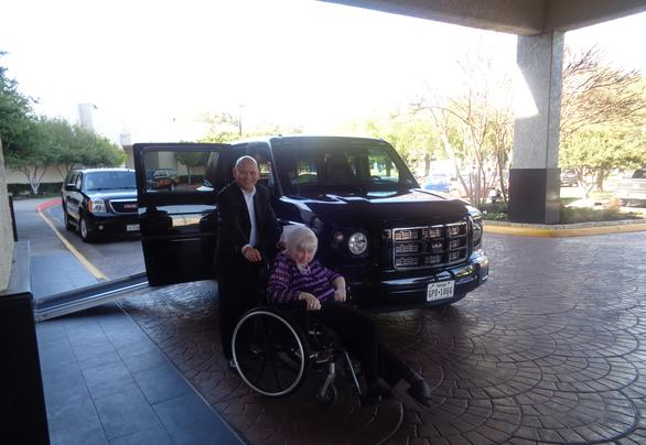Wheelchair services provided to a woman in Dallas, TX