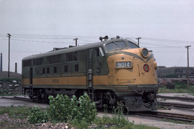 Grand Trunk Western No. 9014, an F3A, in July of 1964.