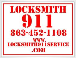 Lockout 911 Sign