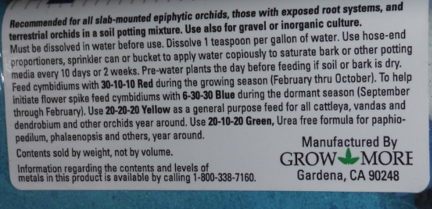 Grow More Orchid Bloom Formula 6-30-30