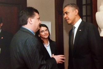 Maryland tax attorney Charles Dillon meeting with President Obama
