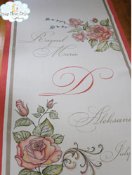 starry night design wedding aisle runners
