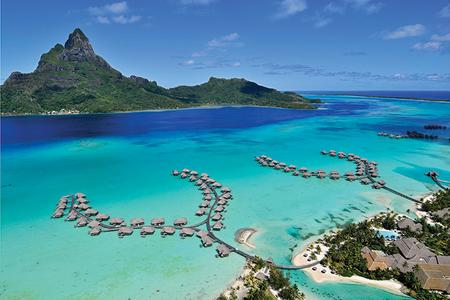 INTERCONTINENTAL BORA BORA & THALASSO SPA: Overview of Overwater bungalows