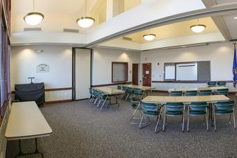The Community Room at Hatch Public Library