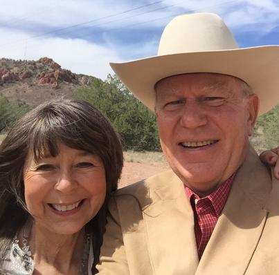Lindy Cook Severns and Jim Severns in the Davis Mountains of Far West Texas