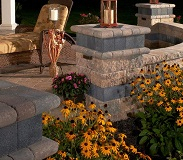 Estate Garden Walls and stone sitting wall  wall caps Swatch