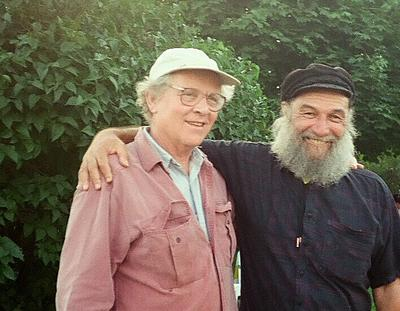 Paul Sills with Fred Kaz. They became lifelong friends.