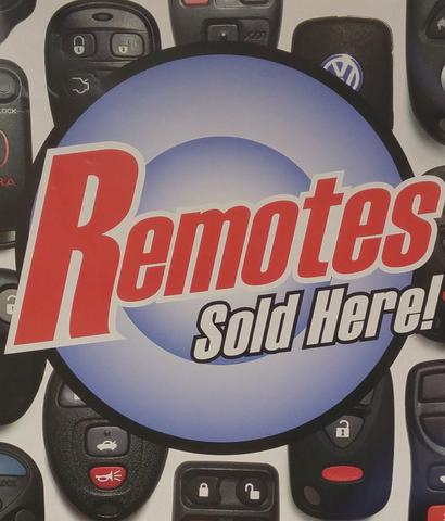 Remotes sold here at locksmith Gibson lock and Key in Franklin NC