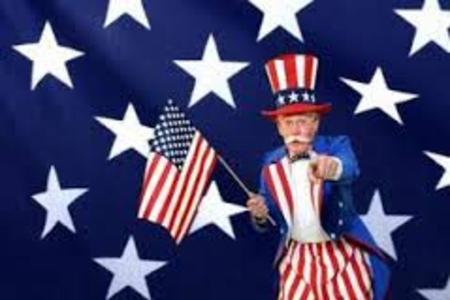 Uncle Sam for parade, corporate event, library, singing telegram