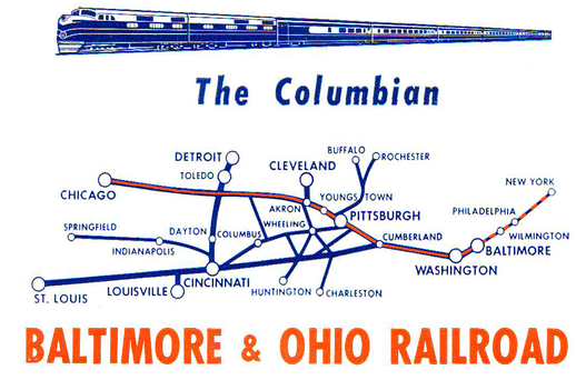 Route Map of The Columbian.