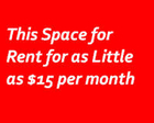 Rent This Size Space on Our Site - 150x240-$15mo - Click to Contact Us