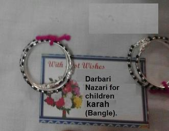 Darbari Karah (Bangle) to protect children for Evil Sight and blessings from Ajmer Sharif