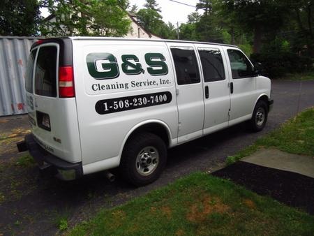 G & S Cleaning Service work van.