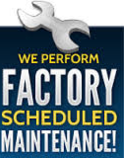 factory scheduled maintenance banner
