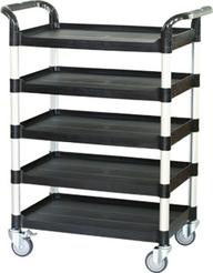 Height-adjustable service cart, 5 shelf adjustable utility carts manufacturer