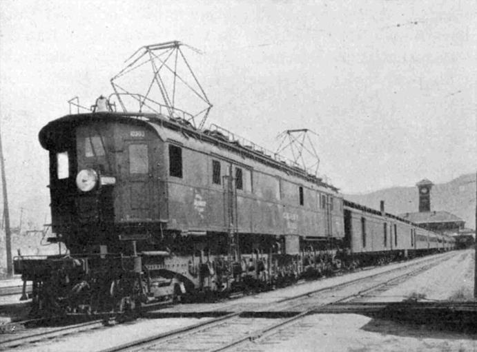 Milwaukee Road EP-3 Quill electric locomotive.