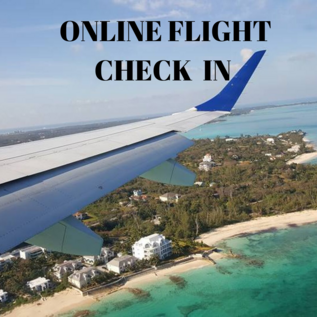 Online flight check in