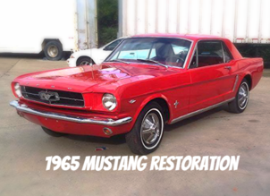 Racing Red Restored 1965 Mustang