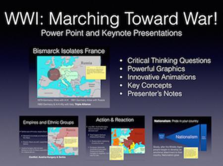 WWI: Marching Toward War PowerPoint