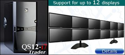 QuadStation 12 display trading computer