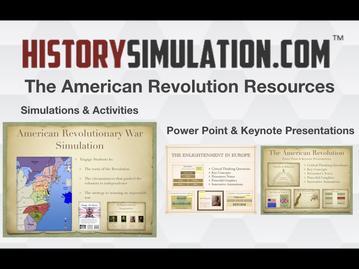 Classroom Resources for the American Revolution