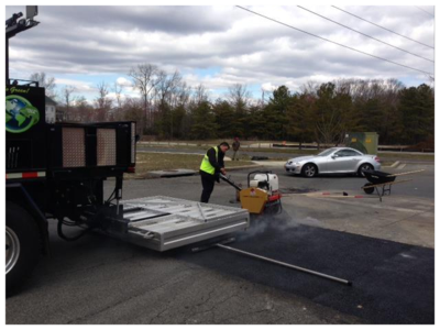 infrared asphalt repair service