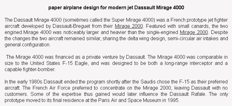 wiki background for 4D model of Dassault Mirage 4000