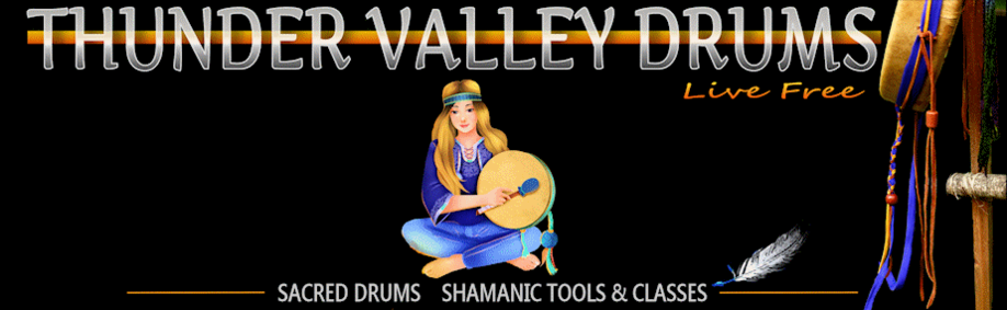 logo for thunder valley drums and home page