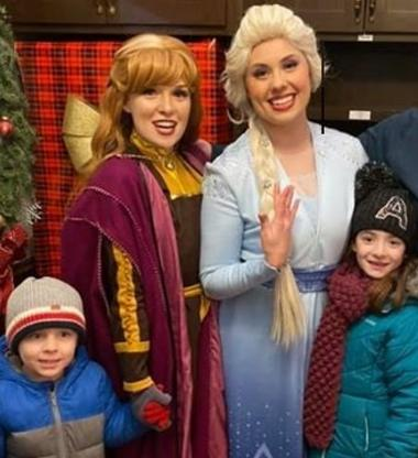 Hire Elsa, Anna Frozen princesses and Olaf snowman