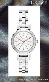 DKNY Women's 'Ellington' Quartz Stainless Steel Casual Watch, Color:Silver-Toned (Model: NY2591)