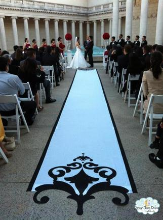 custom wedding aisle runners