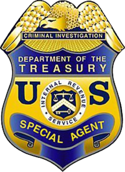 Maryland Tax Attorney Charles Dillon - IRS Criminal Investigations - Special Agent Badge