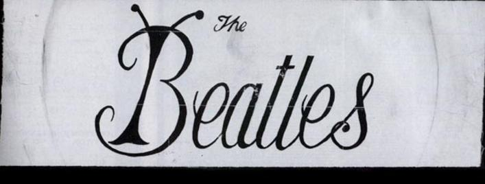 Black And White Photo Closeup Of Tex Oharas Brown Sash With The Bug Logo He Hand Painted Two Sashs For Beatles